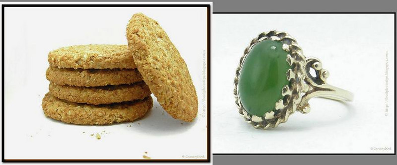 collage 3 cookies & ring