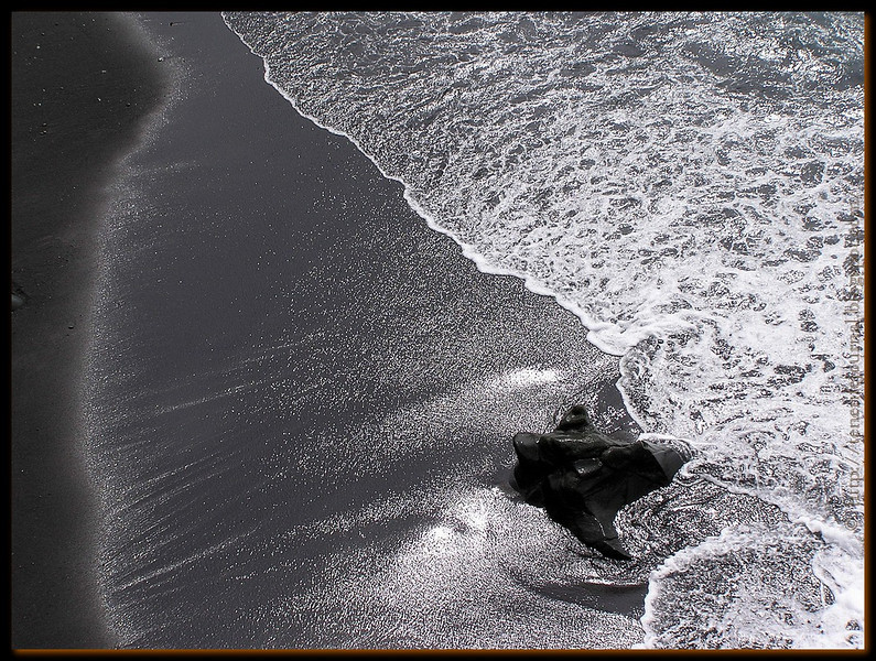 black shiny sand