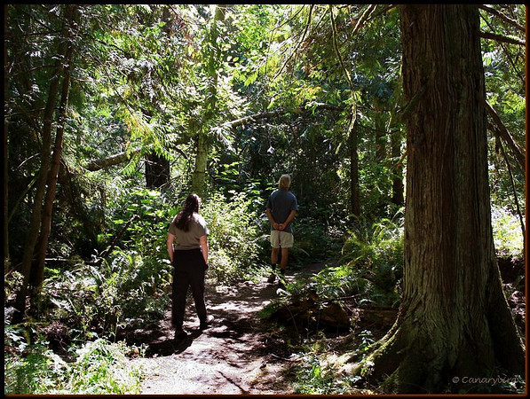mich & Richard in woods