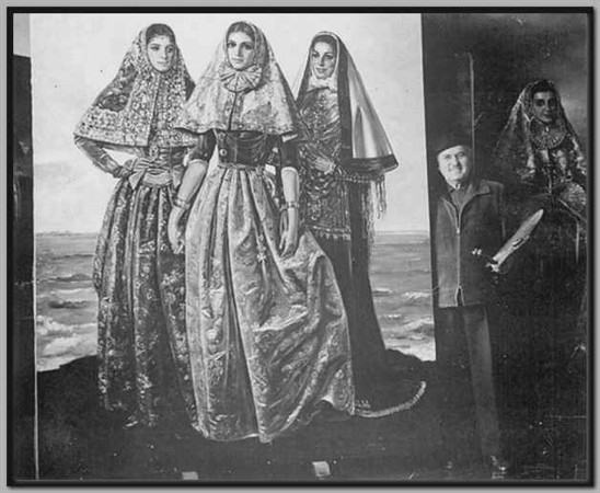 Mallorquin women in costume - Krekovic